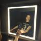 espejo led para maquillaje makeup con soporte magnético para celular